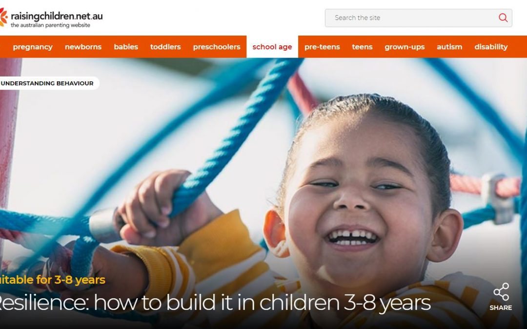 Resilience… How to build it in children 3-8 Years!